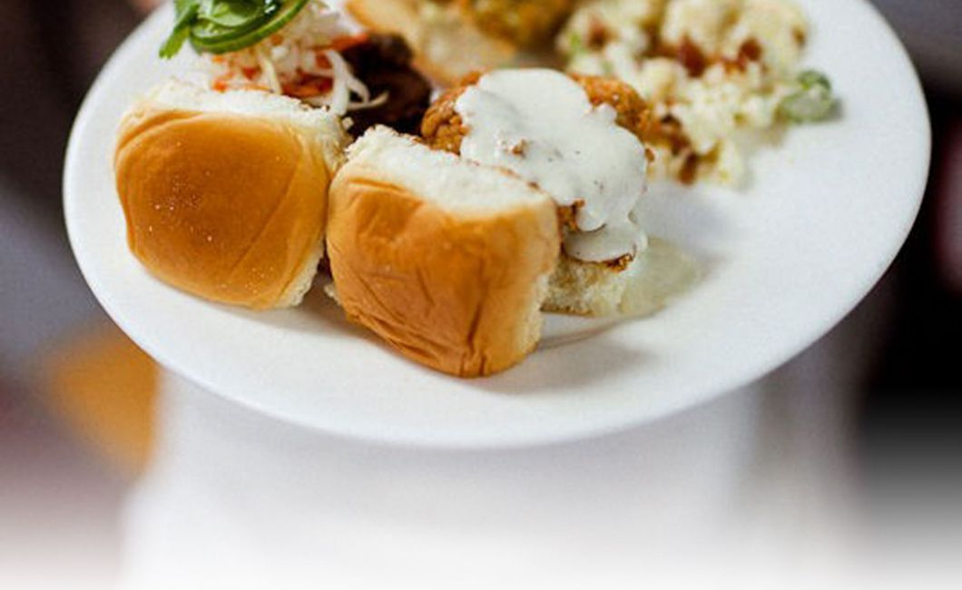 Gourmet Sliders at Wedding